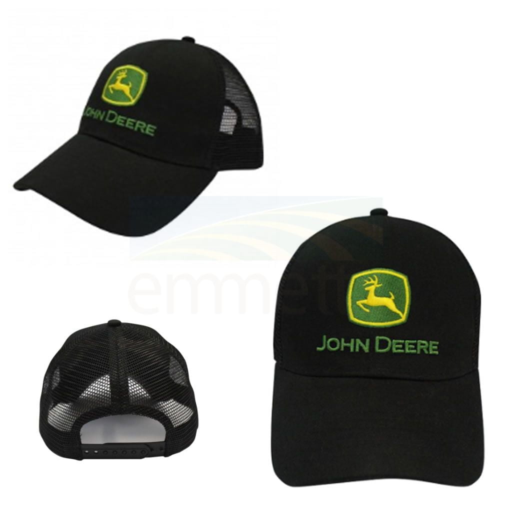 43fce4e338a2cf John Deere Black Trucker Cap - Emmetts Shop