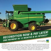 Defer your harvester reconditioning costs until 2020…