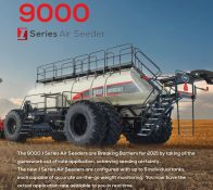 The new 9000 I Series Air Seeder from Bourgault